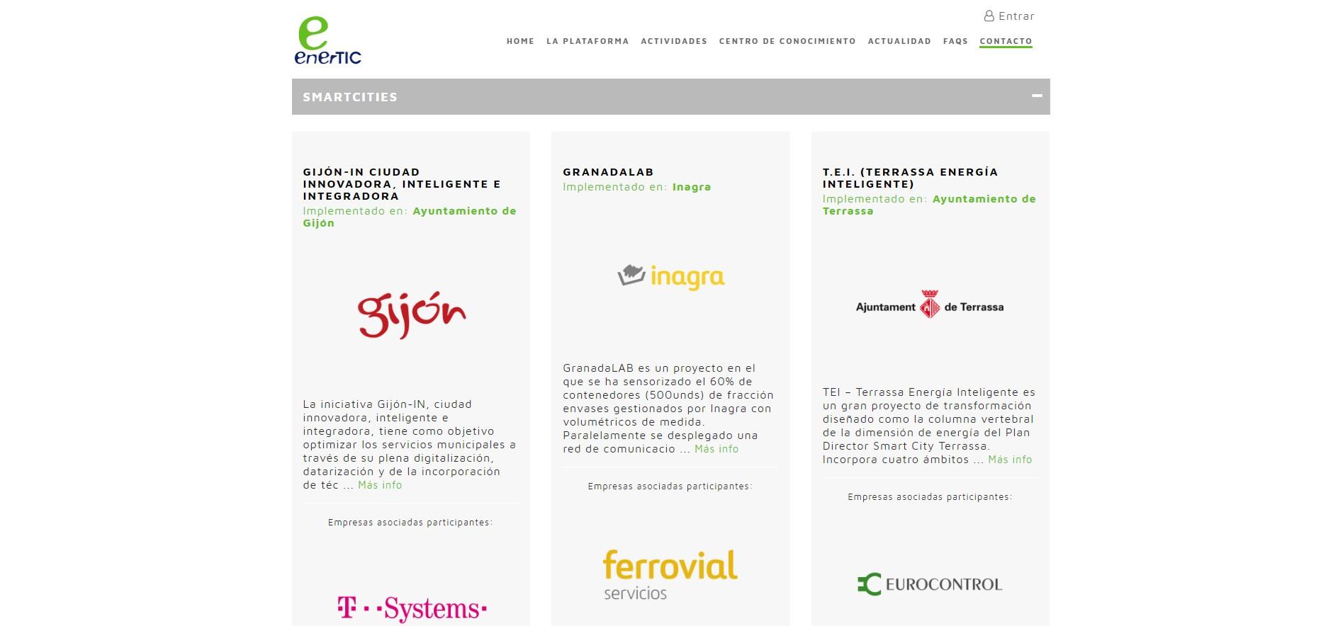 Gijón SmartCities participa en enerTIC awards